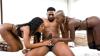 Zaaw aadi And Asia Rae - All Black 3Some Orgy - enduring core
