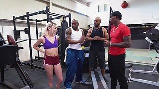 BBC gangbang at make an issue of gym far beautiful girl Chloe Temple