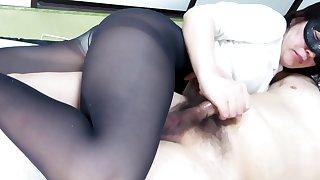 Black Pantyhose Face Sitting Handjob Ejaculation