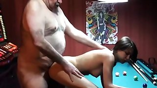cucky films his gf on touching fat old man