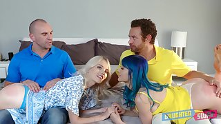 Watch some spoiled girls moreover kinky Athena Faris who loves some brutal threesome